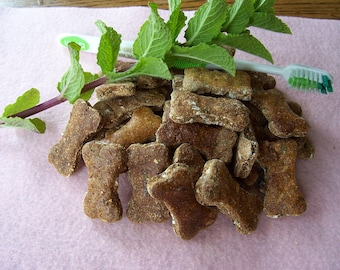 Bow Wow Breath Bones Dog Treats for Fresher Doggie Kisses Mint, Parsley and Activated Charcoal