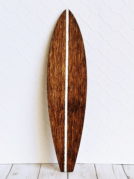 Hand Made California Mahogany Mini Surfboard Collectible Miniatures