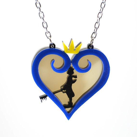 Kingdom Hearts Sora Silhouette Necklace Etsy
