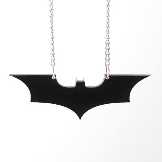 Batman The Dark Knight Symbol Necklace Or Keychain Etsy