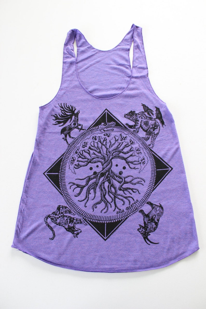 c07d697350ad1 Norse Mythology Tank Top Yggdrasil tree of life Midgard