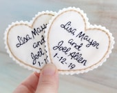 Mr. and Mrs. Wedding Dress Label. Tie Patch. Bridal Shower Gift. Groom Gift from Bride. Wedding Dress Patch. Father of the Bride Gift.