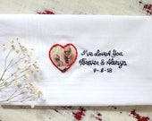 Father of the Bride Gift. Embroidered Wedding Handkerchief. Father of the Bride Handkerchief. Dad Hanky. Father of Groom. Hand Stiched.