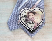 Father of the Bride gift. Custom Portrait. Father of the Bride. Gift for Dad. Tie Patch. Mens tie. Hand Stitched Wedding Tie Patch.