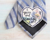 Cotton Anniversary Gift. 2nd Anniversary Cotton. Tie Patch. Picture Patch. Gift for Him. Hand Embroidered Tie Patch. Patches. Personalized.