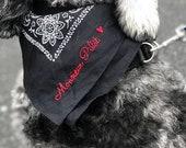 Personalized Dog Bandana. Dog Bandana. Hand Stitched Dog Bandana. Dog Gift. Dog Name Bandana. Personalized Bandana. Dog. Bandana. Puppy.
