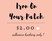 Iron on Patch. Add this listing to your custom tie patch order.