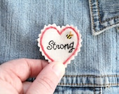 Hand Stitched Patch. Jacket Patch. Patch. Patches. Back Patch. Sew on Patch. Embroidered Patch. Strong. Be Strong.