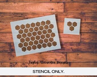 Honeycomb Stencil   Reusable Stencil   Honeycomb Bee Pattern