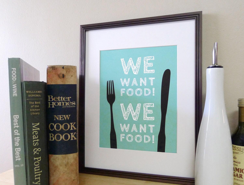 Kitchen Art Food Decor Kitchen Sign Fork and Knife Art | Etsy