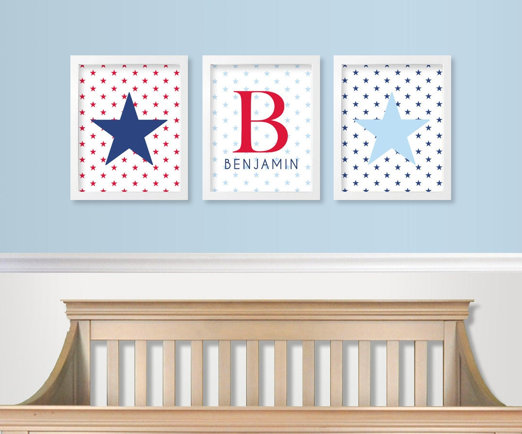 red white and blue nursery decor military baby nursery etsy. Black Bedroom Furniture Sets. Home Design Ideas