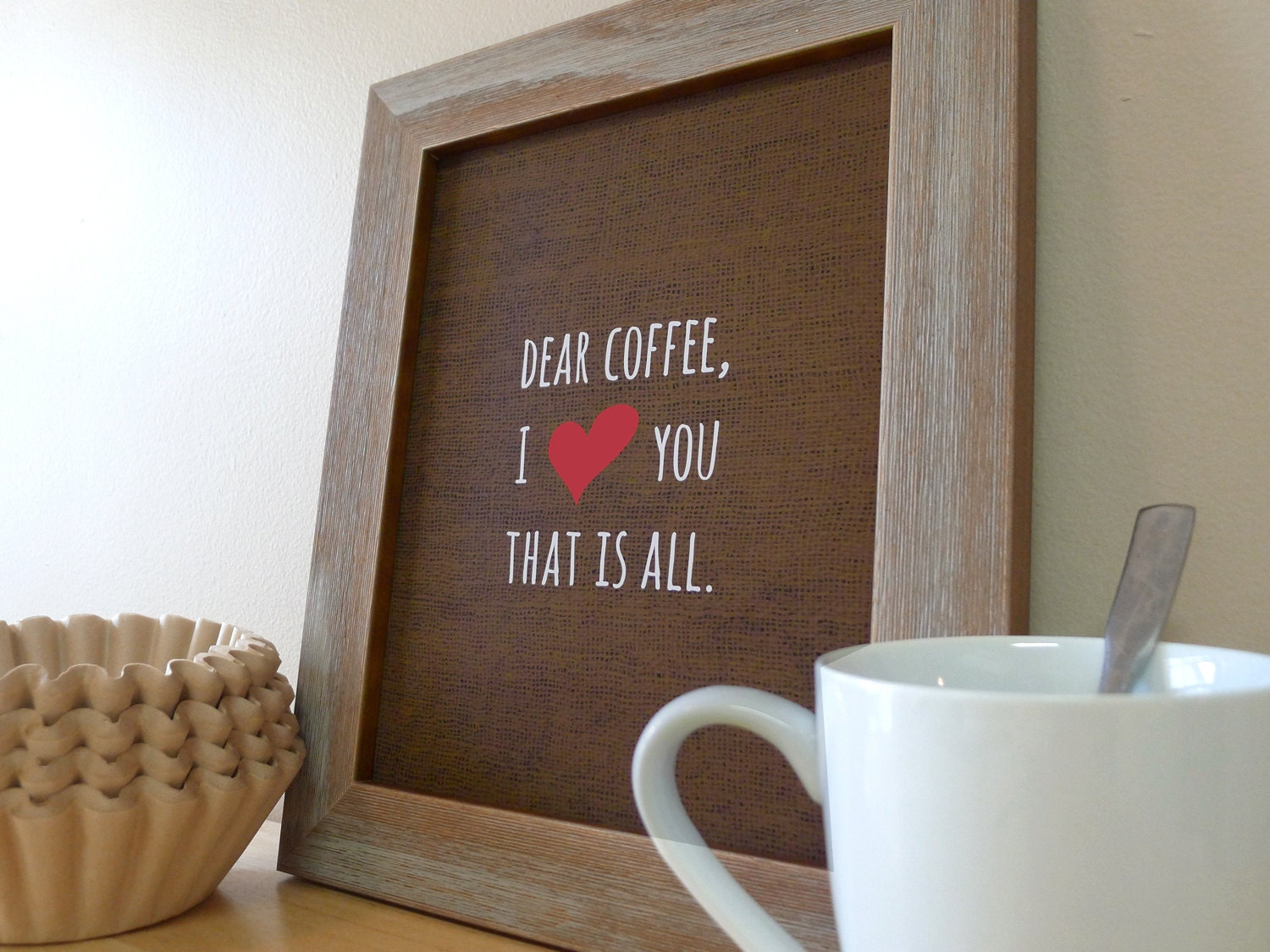 Coffee Sign Kitchen Wall Art Prints Love Etsy