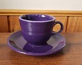 Vintage Genuine Homer Laughlin Fiesta Ware Purple Cup Saucer Lead Free