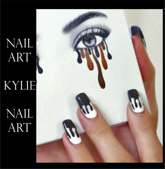 Kylie Jenner Lip Drip Nail Art Stocking Stuffer Stickers | Etsy