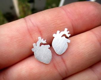 Heart Earrings - Sterling Silver