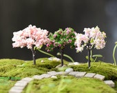 3pc Artificial Flower Tree Cherry blossoms Fairy Garden Accessories Succulent Terrarium Outdoor Suppliers OV007