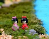 10pc Mini Japanese Girl Figurine Mini Garden Miniature Fairies SucculentDecor Fairy Garden Accessories Terrarium Suppliers