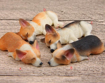 1pc Sleeping Corgi Dog 3D Creative  Refrigerator Magnet Magnetic Buckle Fridge Magnet Home Decor
