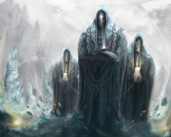 fantasy artwork wizard artwork magic artwork sorcerer etsy