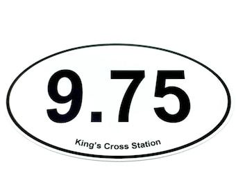 9.75 King's Cross Bumper Sticker