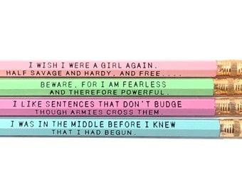 Female Author Pencils
