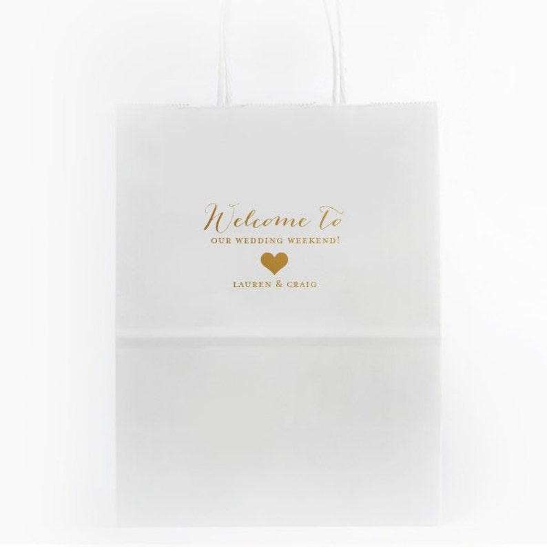Personalized Wedding Bags Wedding Guest Bags Wedding Hospitality Bags Wedding Welcome Bags with Foil