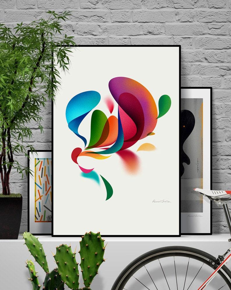 Spring. Original illustration art poster giclée print signed image 0