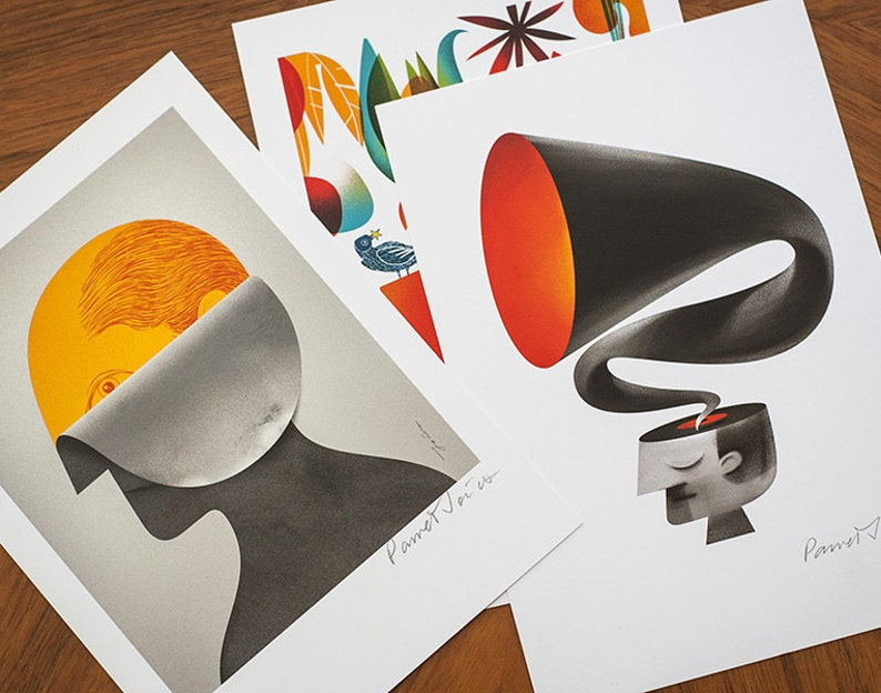 MINI set 1. Set of my bestselling illustrations as A5 size image 0