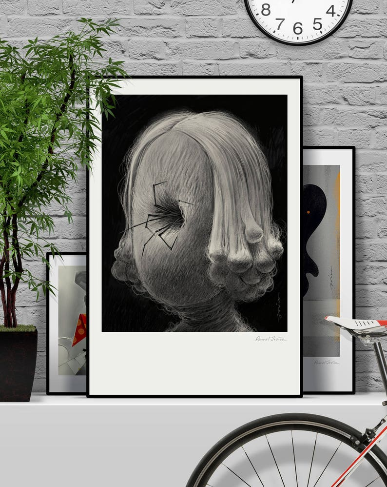 Scary movie. Original illustration art poster giclée print image 0