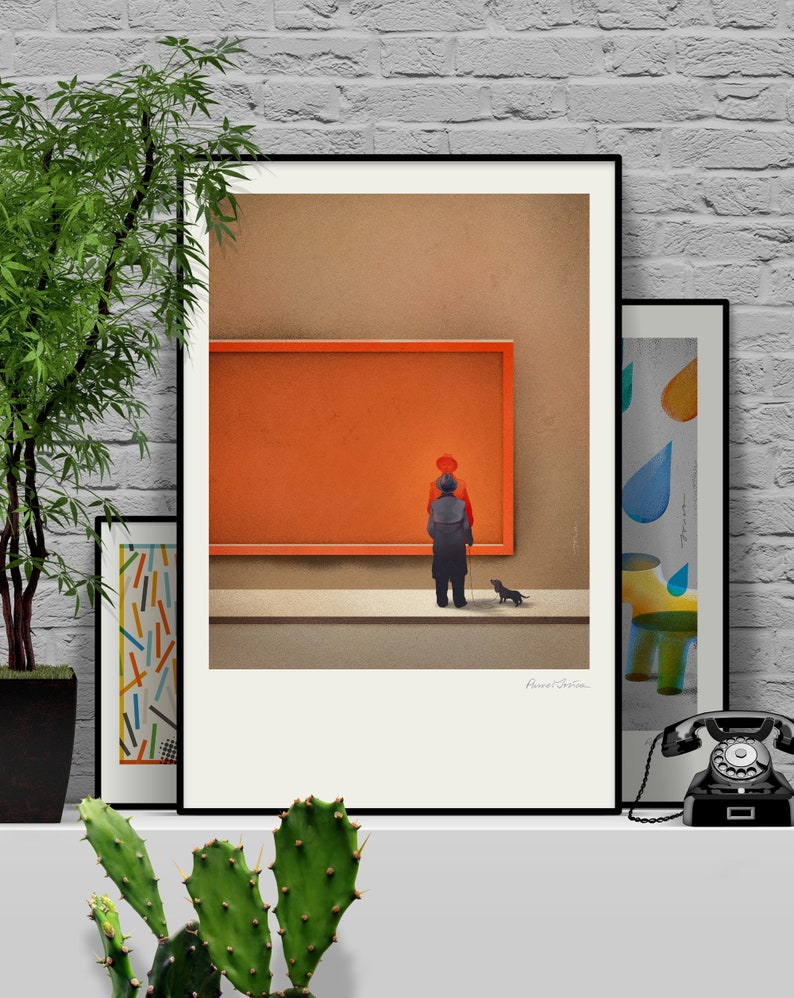 Billboard II. Original illustration art poster giclée print 61x91 cm