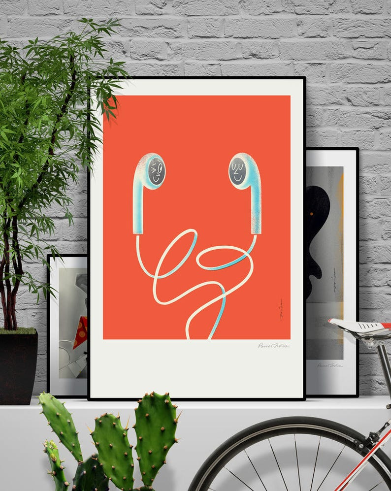 Lo and Ve. Original illustration art poster giclée print image 0