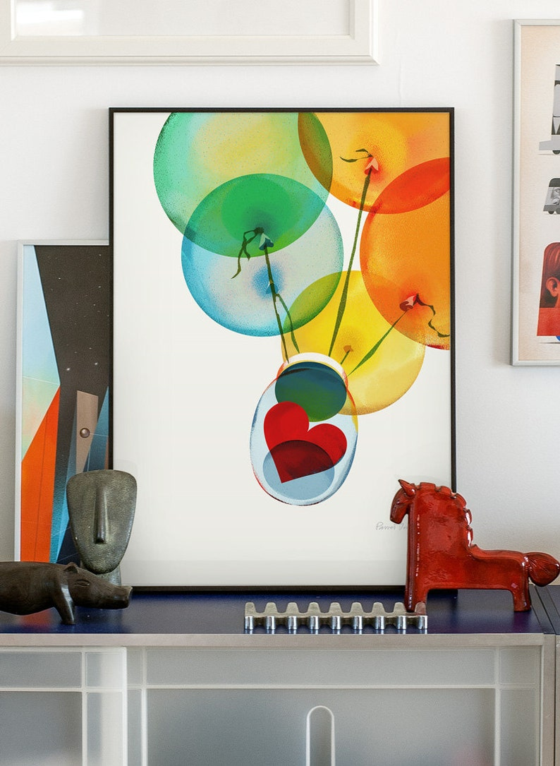 Your home is where your heart is. Original illustration art 50x70 cm