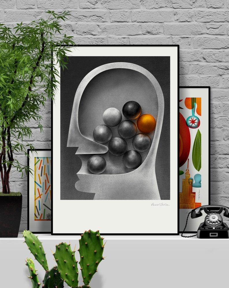 Ideas. Original illustration art poster giclée print signed by image 0