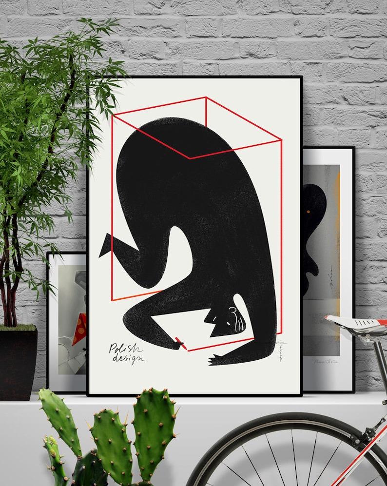 Polish Design poster. Original illustration art poster giclée image 0