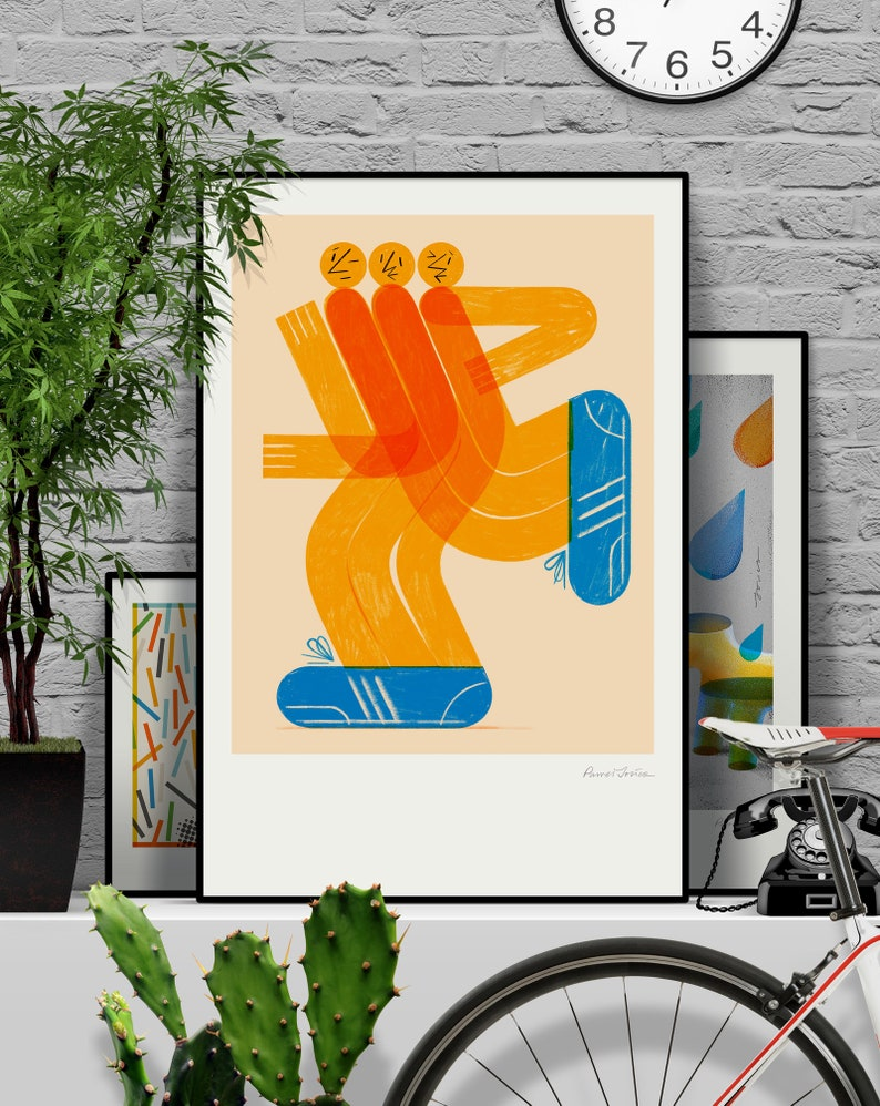 Solidarity. Original illustration art poster giclée print image 0