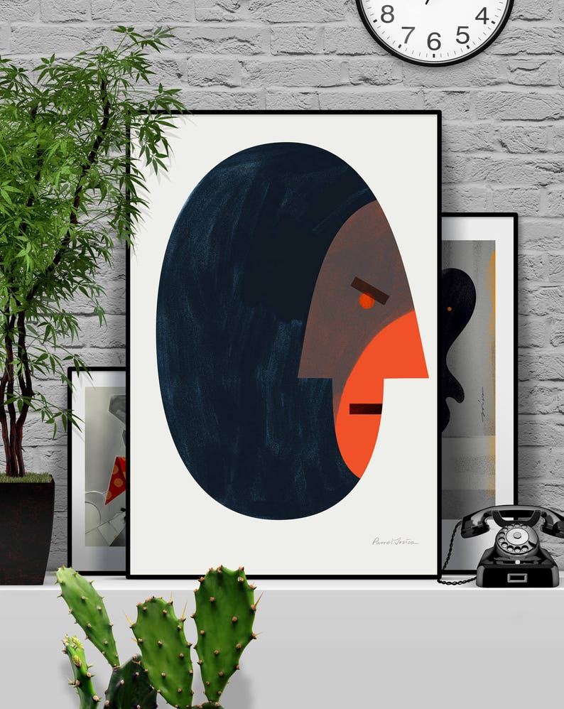 Shame. Original illustration art poster giclée print signed by image 0