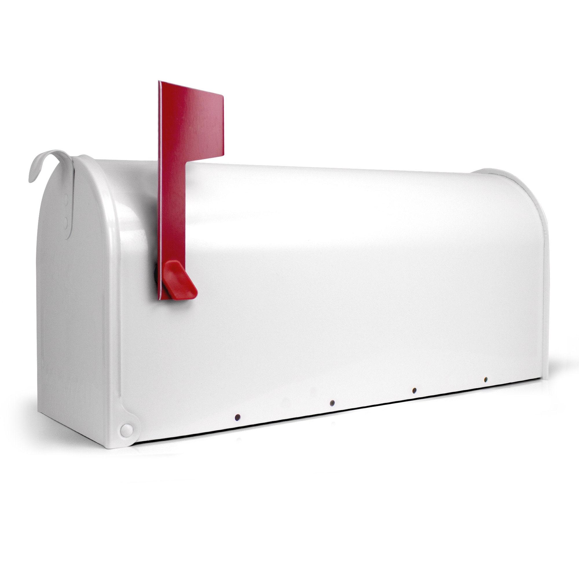 banjado US Mailbox Amerikanischer Briefkasten Stahl grün und Motiv Zeitungen