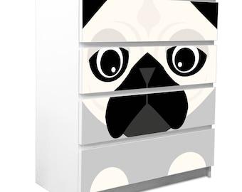 Self-adhesive Ikea Malm furniture film ARTHUR