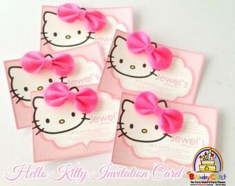 20 pieces Hello Kitty Invitation Card