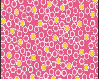 Fabric Pat Bravo 'Sugar' Lacy Charms Pink Art Gallery Pink Yellow Modern