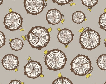 Fabric Sweet as Honey 'Rooted Eventide' by Bonnie Christine Art Gallery Brown Wood Yellow