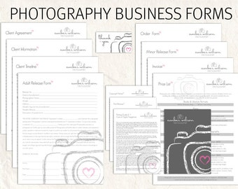 Photography business forms kit lilac floral camera style photography business forms kit sketch camera style editable templates 13 psd files supplied accmission Image collections