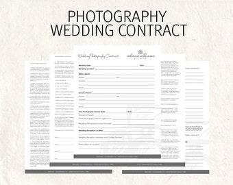Wedding Contract Etsy