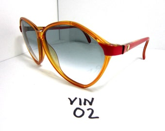 96646adc3cac Vintage 1970s 80s VIENNA LINE Sunglasses Gradient Red Made in Austria  (VIN-02)