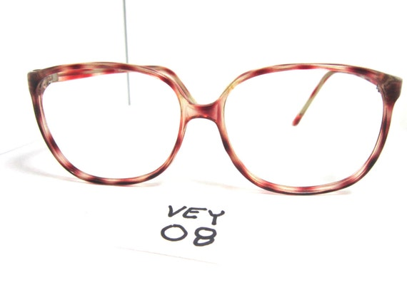 75c2310b380f Vintages 80s Eyeglasses Frame Light Red Havana Vivian Women