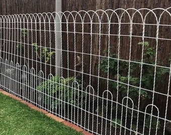 """100' x 36"""" Galvanized Double Loop Woven Wire Old Fashioned Yard Fence - Ornamental and Functional - Perimeter Metal Wire Fencing - Cottage"""