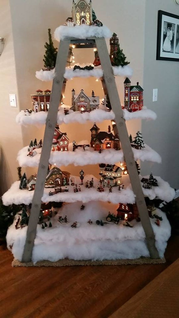 Ladder Christmas Tree.Ladder Christmas Tree Double 5 Step Ladder Shelf Frame
