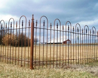 Solid Steel 3' Tall Fencing - Wrought Iron Metal Fence - Best for Yard and Perimeter to Keep your Children & Dogs Safe