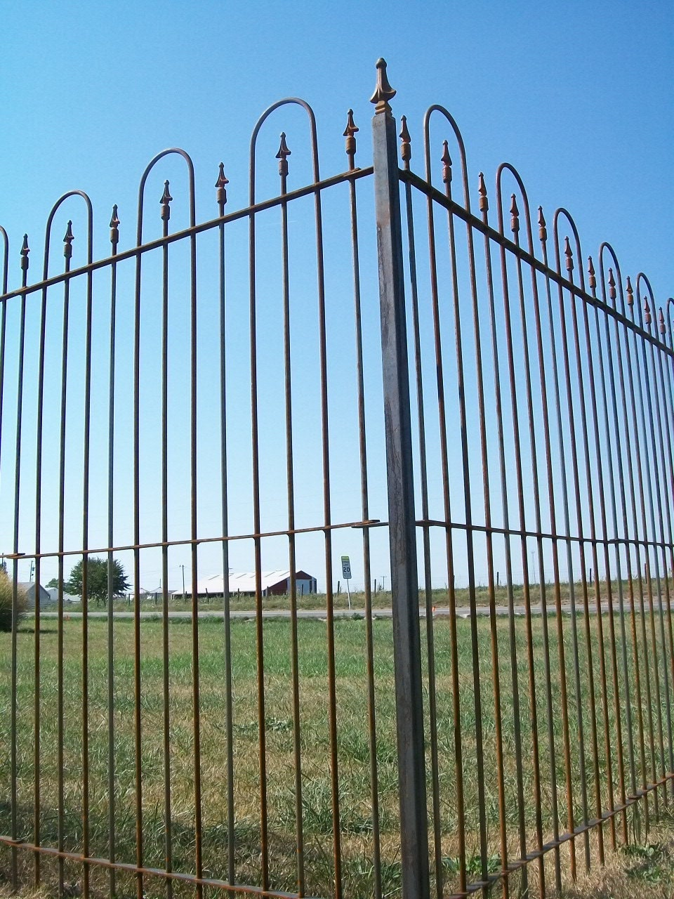 6\' Tall Interlocking Solid Steel Fence Panels Wrought | Etsy