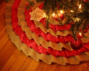 Small Size Satin Vine Green 26 Textured Tree Skirt